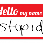 Dumb questions name tag