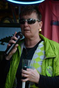Sue Buckley giving a Thank You speech