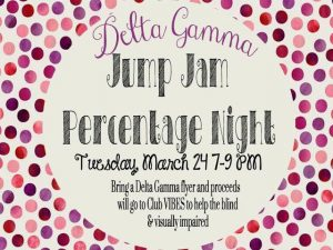 Jump Jam Percentage Night Flyer March 2015