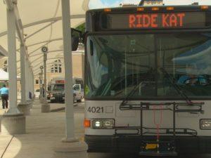 KAT bus at station
